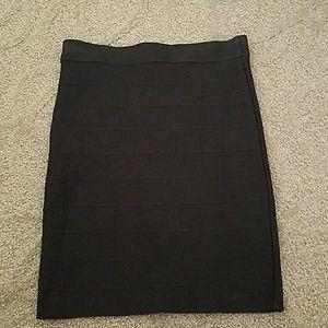 Guess Black Bandage Skirt